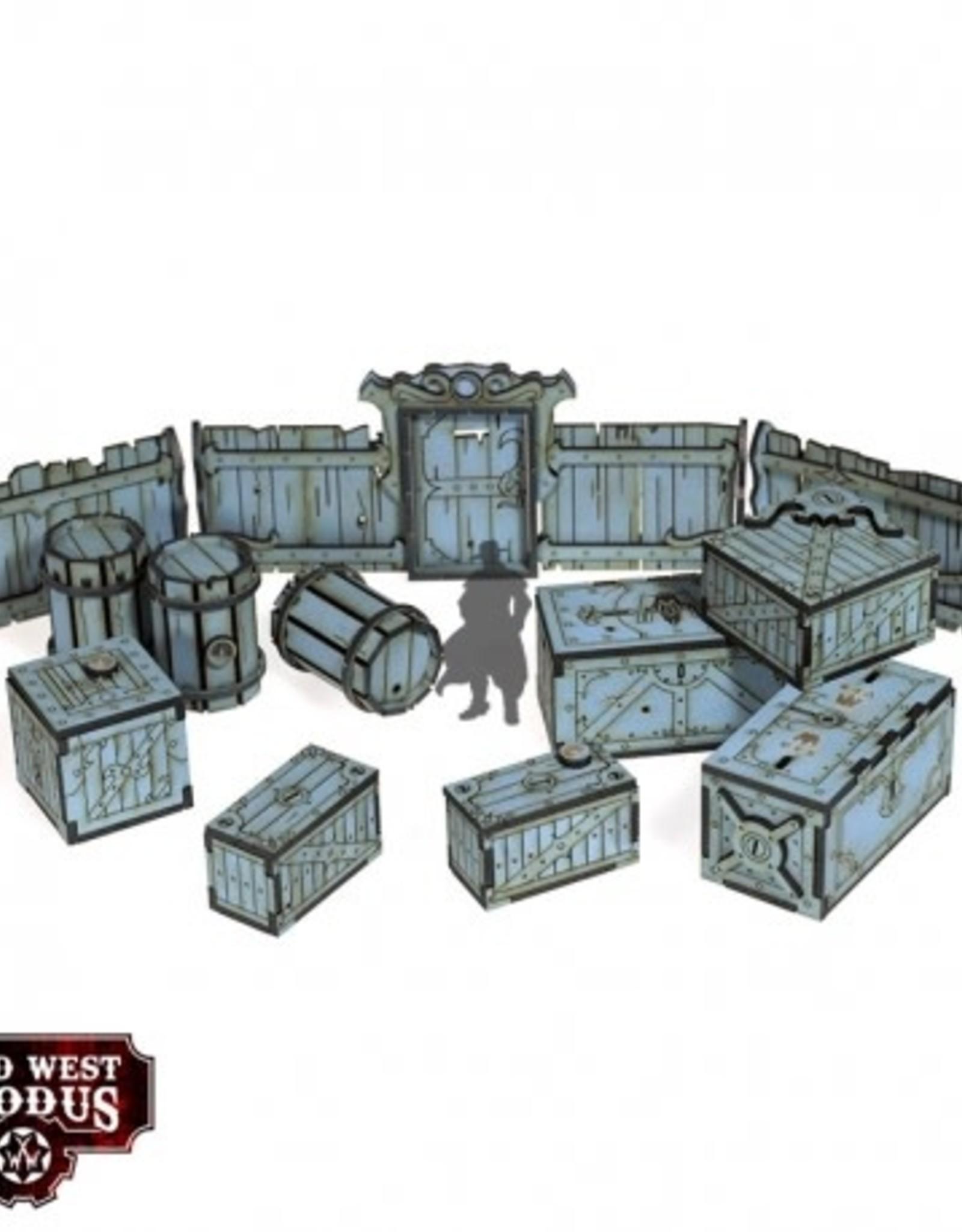 Warcradle Red Oak Crates, Fences & Barrels
