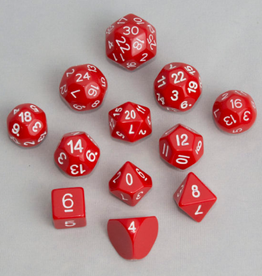 Dice, Red (12pcs)