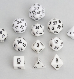 Dice, White (12pcs)