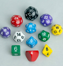 Dice, Multi-Colored (12pcs)