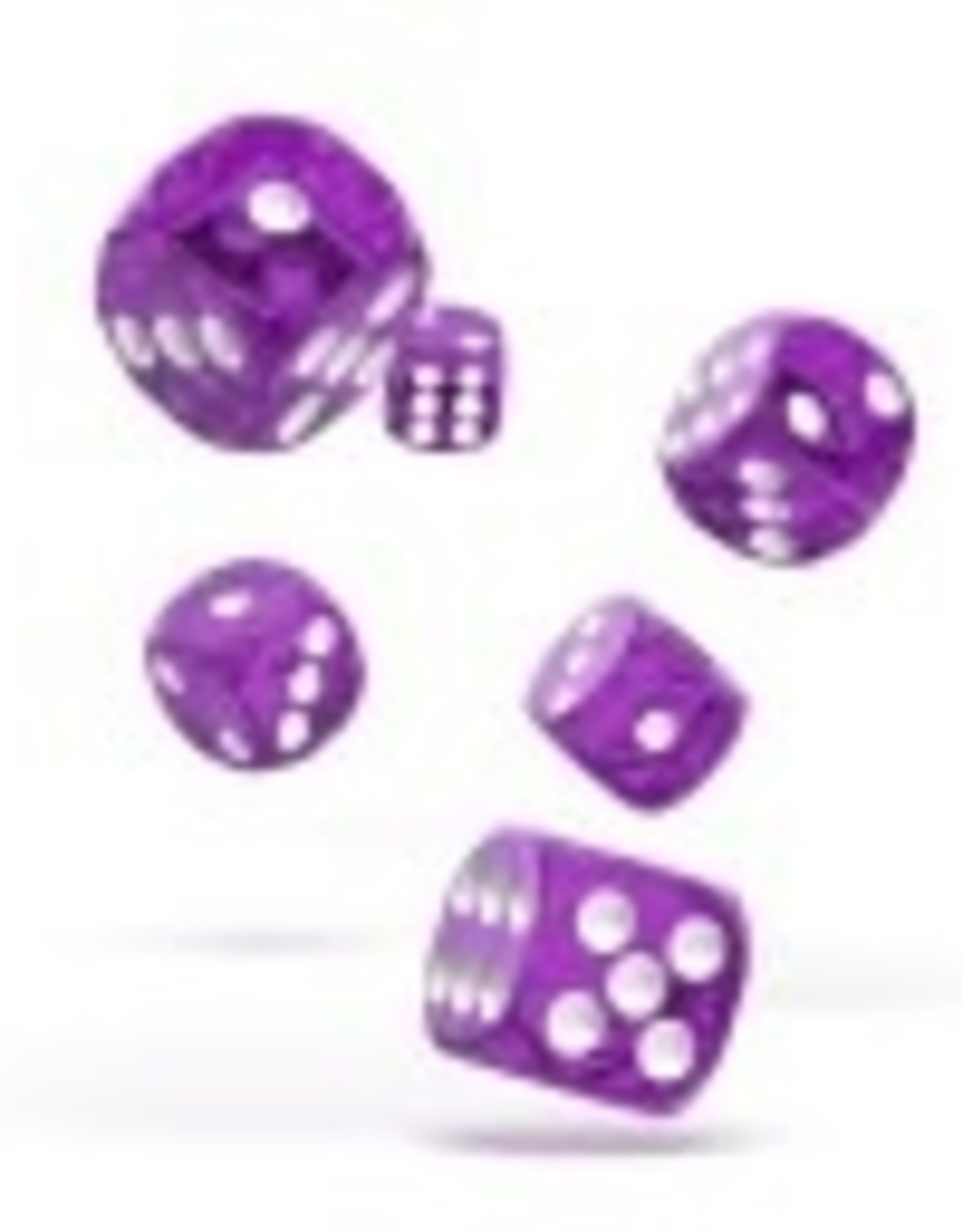Okie Dokie D6 Dice 12mm Translucent - Purple