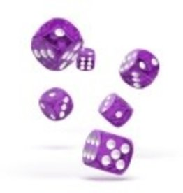 Okie Dokie D6 Dice 12mm Translucent - Purple