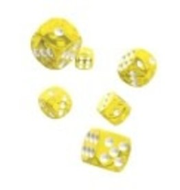 Okie Dokie D6 12mm Translucent Yellow