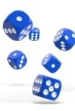 Okie Dokie D6 Dice 12mm Solid- Blue