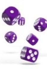 Okie Dokie D6 Dice 12mm Solid- Purple