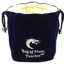 Old School Dice & Accesories Bag of Many Pouches: Blue