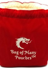 Old School Dice & Accesories Bag of Many Pouches: Red