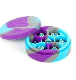 MDG Silicone Round Dice Case: Purple/Gray/L. Blue