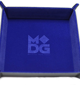 MDG Blue Velvet Folding Tray