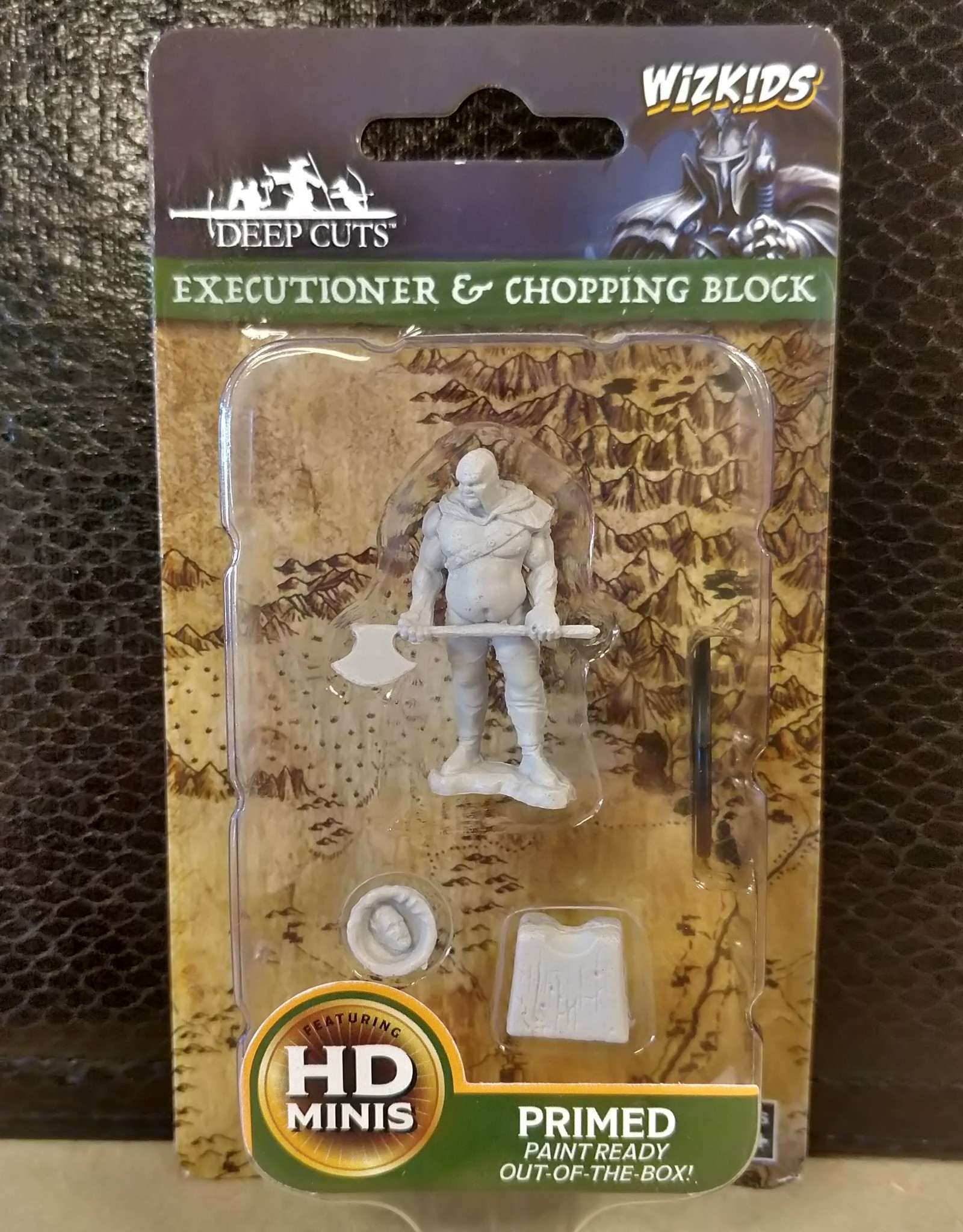 WizKids Deep Cuts Unpainted Miniatures: W6 Executioner & Chopping Block