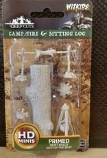Wizkids WizKids Deep Cuts Unpainted Miniatures: W10 Camp Fire & Sitting Log