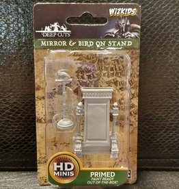 WizKids Deep Cuts Unpainted Miniatures: W5 Mirror & Bird on Stand