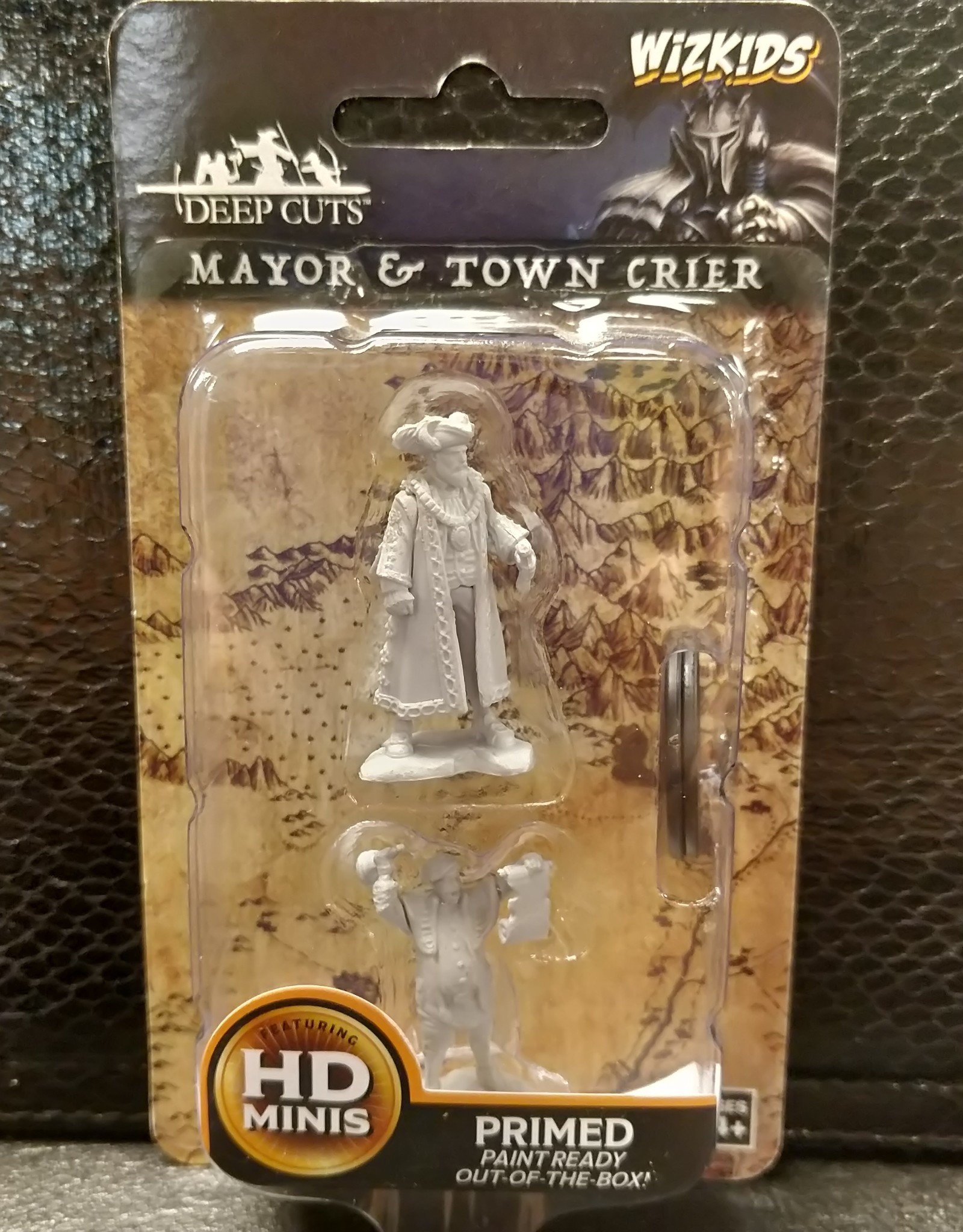 Wizkids WizKids Deep Cuts Unpainted Miniatures: W10 Mayor & Town Crier