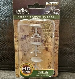 WizKids Deep Cuts Unpainted Miniatures: W5 Small Round Tables
