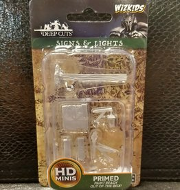 Wizkids WizKids Deep Cuts Unpainted Miniatures: W10 Signs & Lights