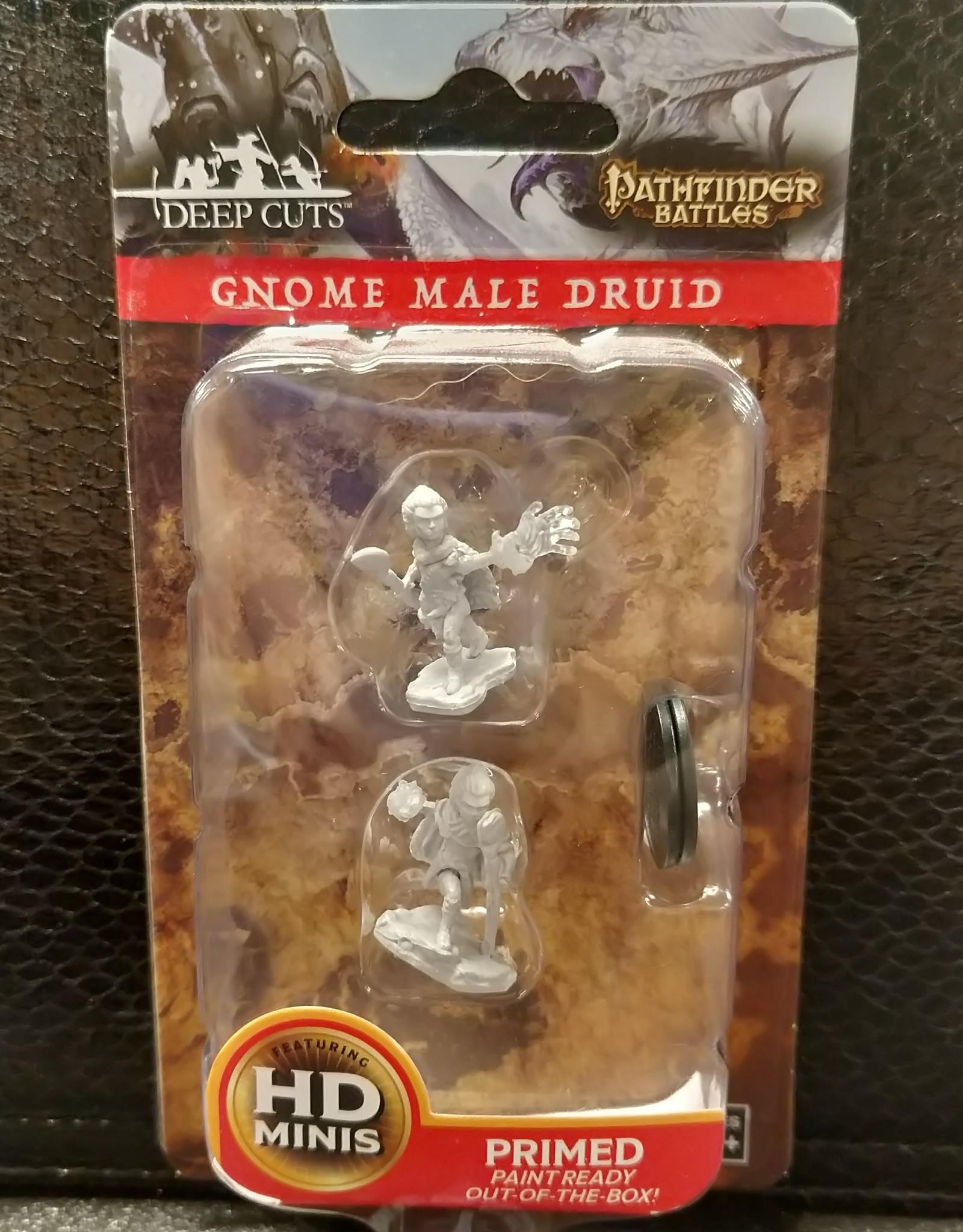 Pathfinder Deep Cuts Unpainted Miniatures: W5 Gnome Male Druid