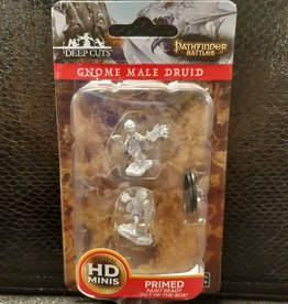 Pathfinder Deep Cuts Unpainted Miniatures: W5 Gnome Male Druid