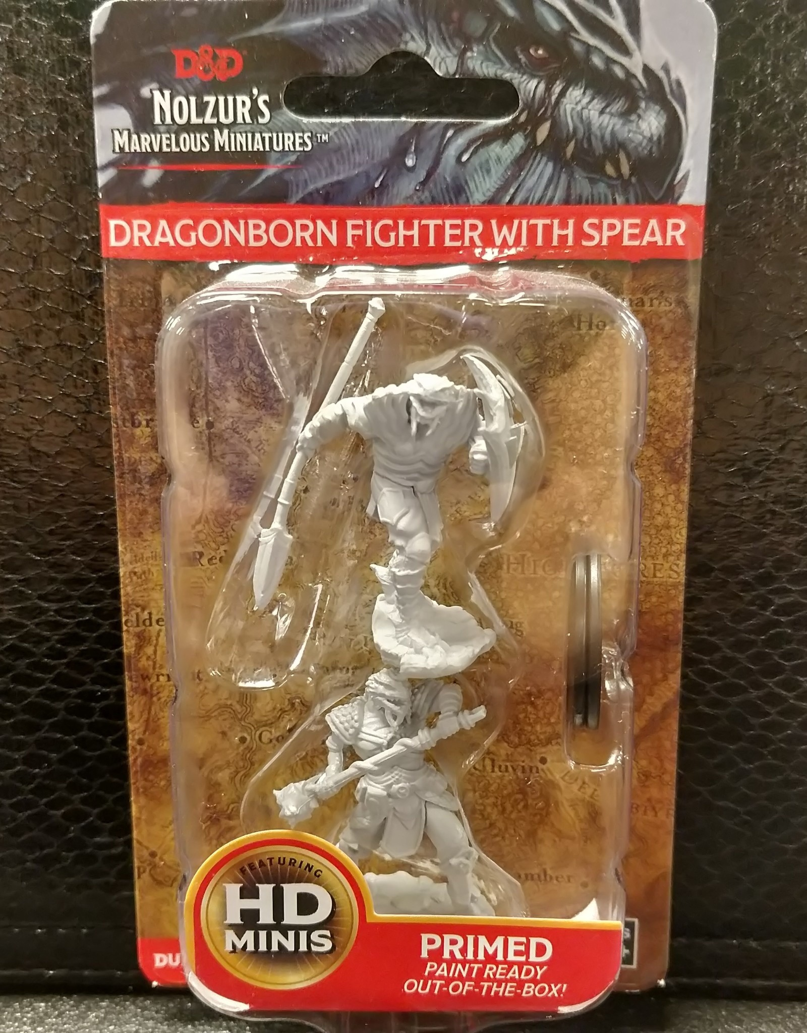 Dungeons & Dragons Nolzur's Marvelous Unpainted Miniatures: W5 Dragonborn Male Fighter with Spear