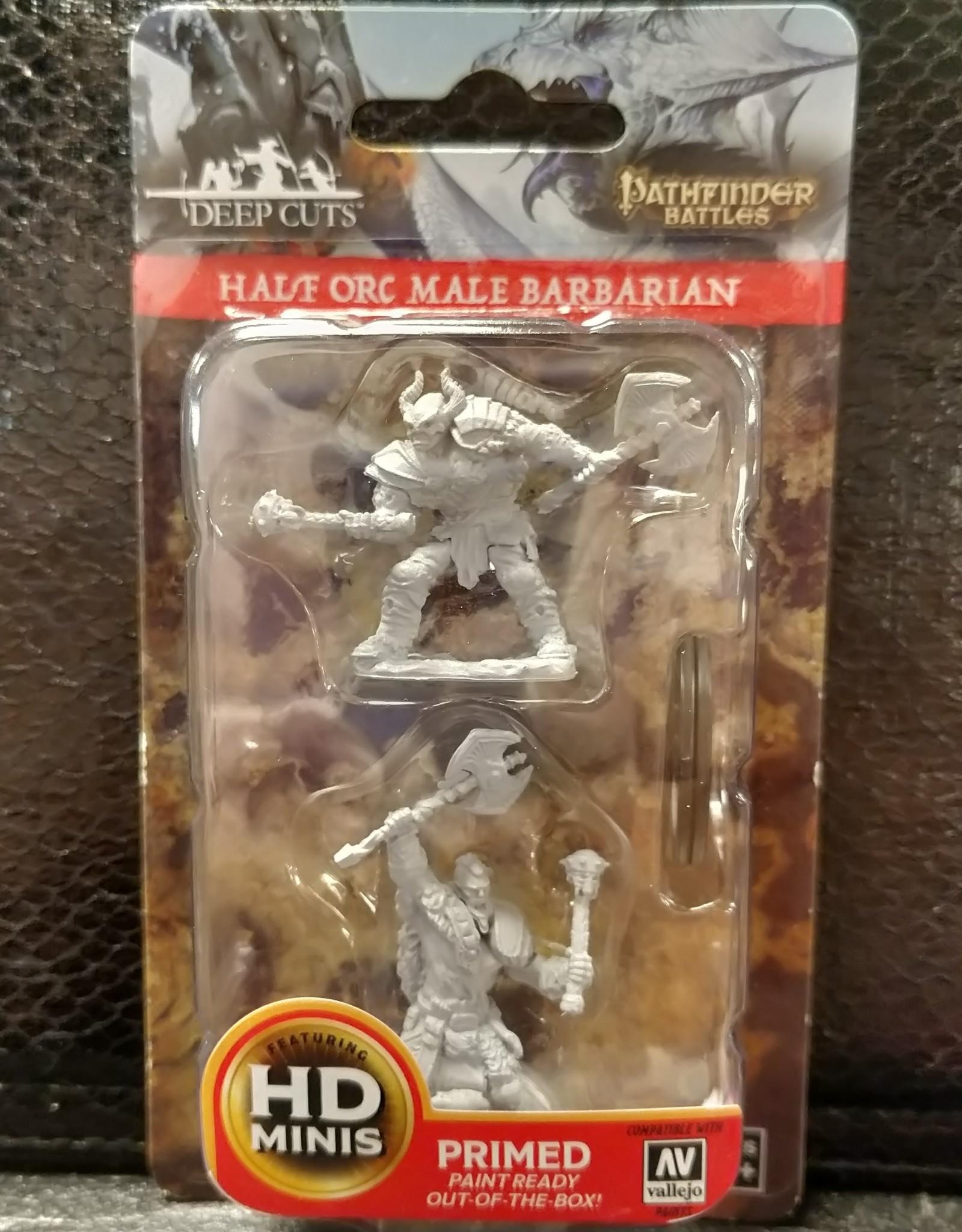 Pathfinder Deep Cuts Unpainted Miniatures: W3 Half-Orc Male Barbarian