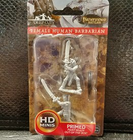 Pathfinder Deep Cuts Unpainted Miniatures: W6 Human Female Barbarian