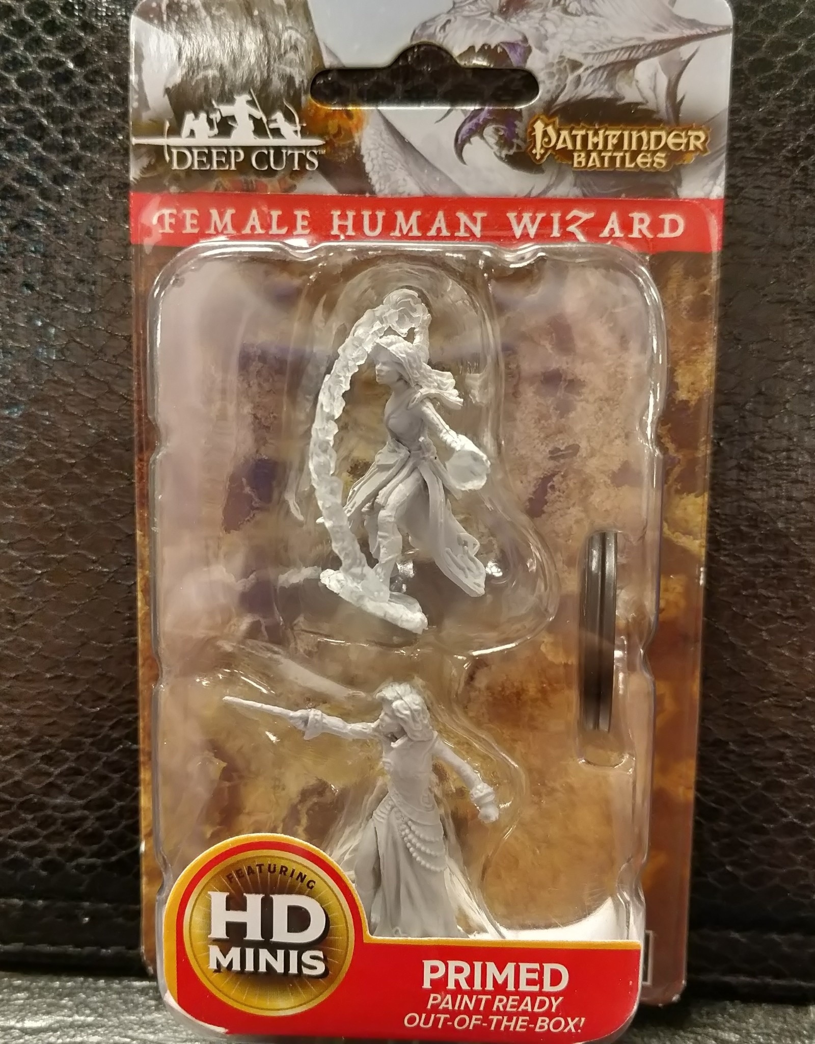 Pathfinder Deep Cuts Unpainted Miniatures: W6 Female Human Wizard