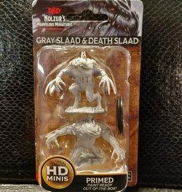 Dungeons & Dragons Nolzur's Marvelous Unpainted Miniatures: W5 Grey Slaad & Death Slaad