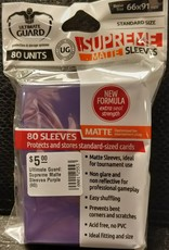 Ultimate Guard Ultimate Guard: Supreme Matte Sleeves Purple (80)