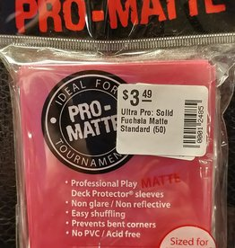 Ultra Pro Ultra Pro: Solid Fuchsia Matte Standard (50)