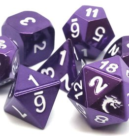 Old School Dice & Accesories Halfing Forged Electric Purple