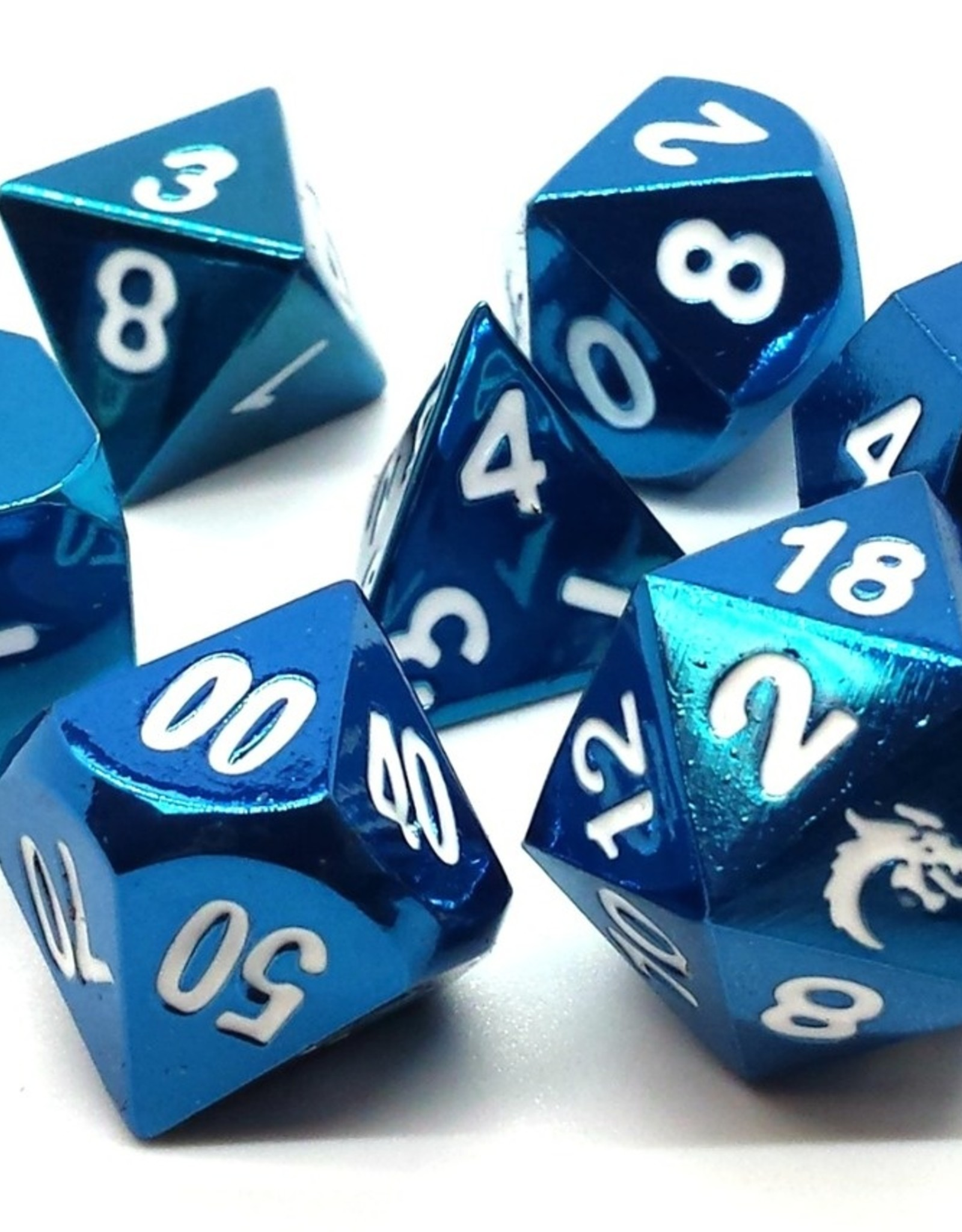 Old School Dice & Accesories Halfing Forged Electric Blue
