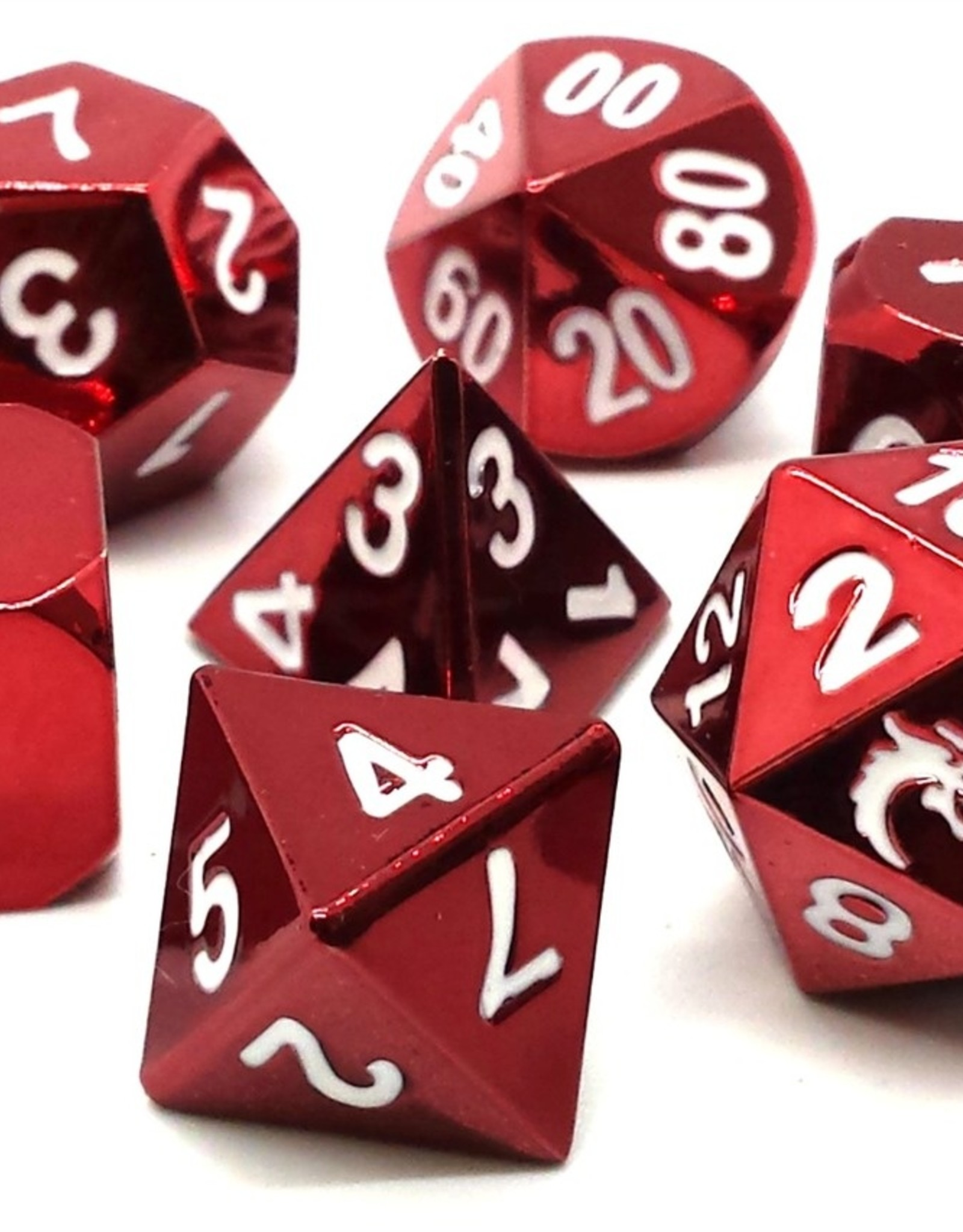Old School Dice & Accesories Halfing Forged Electric Red