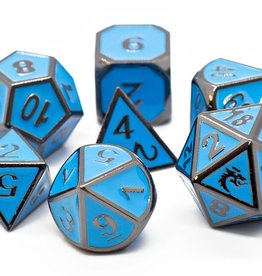 Old School Dice & Accesories Elven Forged Teal w/ Black Nickel
