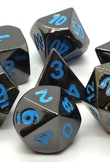 Old School Dice & Accesories Halfling Forged Black Nickel w/Blue