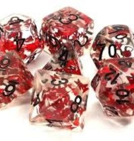 Old School Dice & Accesories Infused: Red Butterfly w/ Black