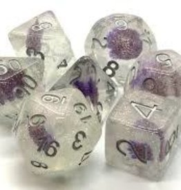 Old School Dice & Accesories Infused: Purple Flower