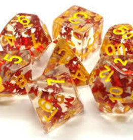 Old School Dice & Accesories Infused: Orange Butterfly w/ Yellow