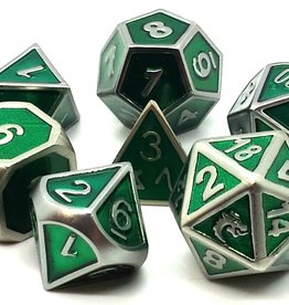 Old School Dice & Accesories Elven Forged: Metallic Green