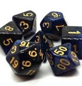 Old School Dice & Accesories Galaxy Deep Blue & Black