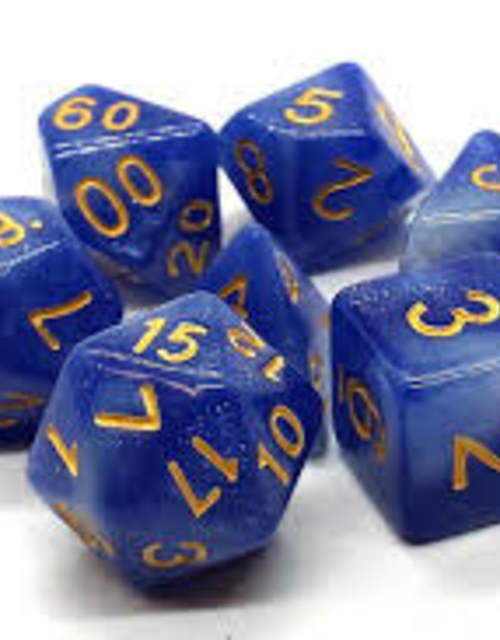 Old School Dice & Accesories Galaxy Blue & White