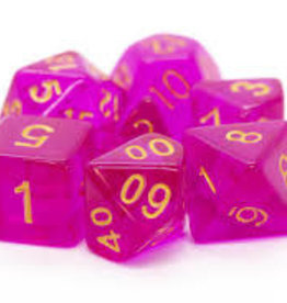 Old School Dice & Accesories Translucent Magenta