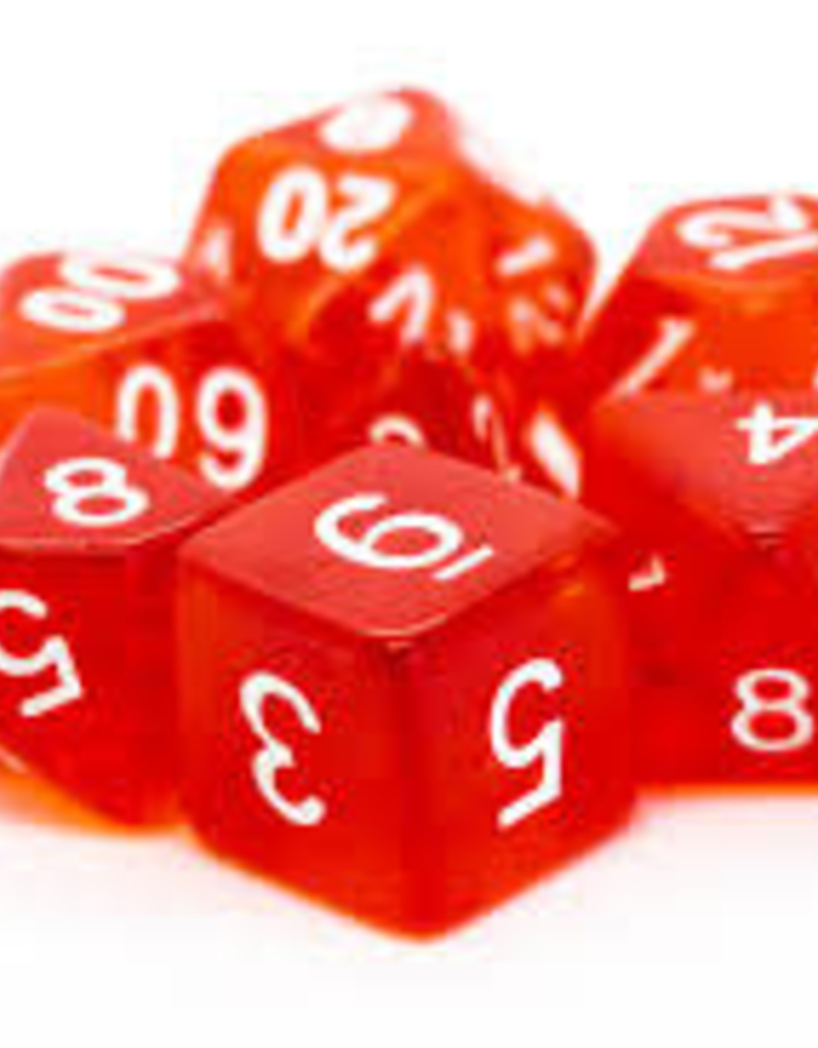 Old School Dice & Accesories Translucent Red