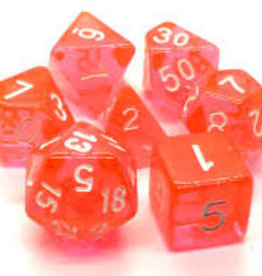 Old School Dice & Accesories Translucent Orange
