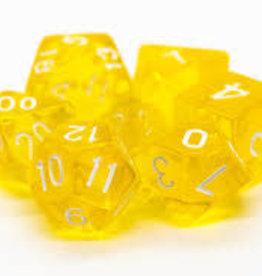 Old School Dice & Accesories Translucent Yellow
