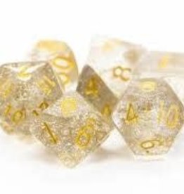 Old School Dice & Accesories Sparkle Translucent Clear