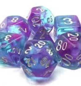 Old School Dice & Accesories Nebula Purple & Blue