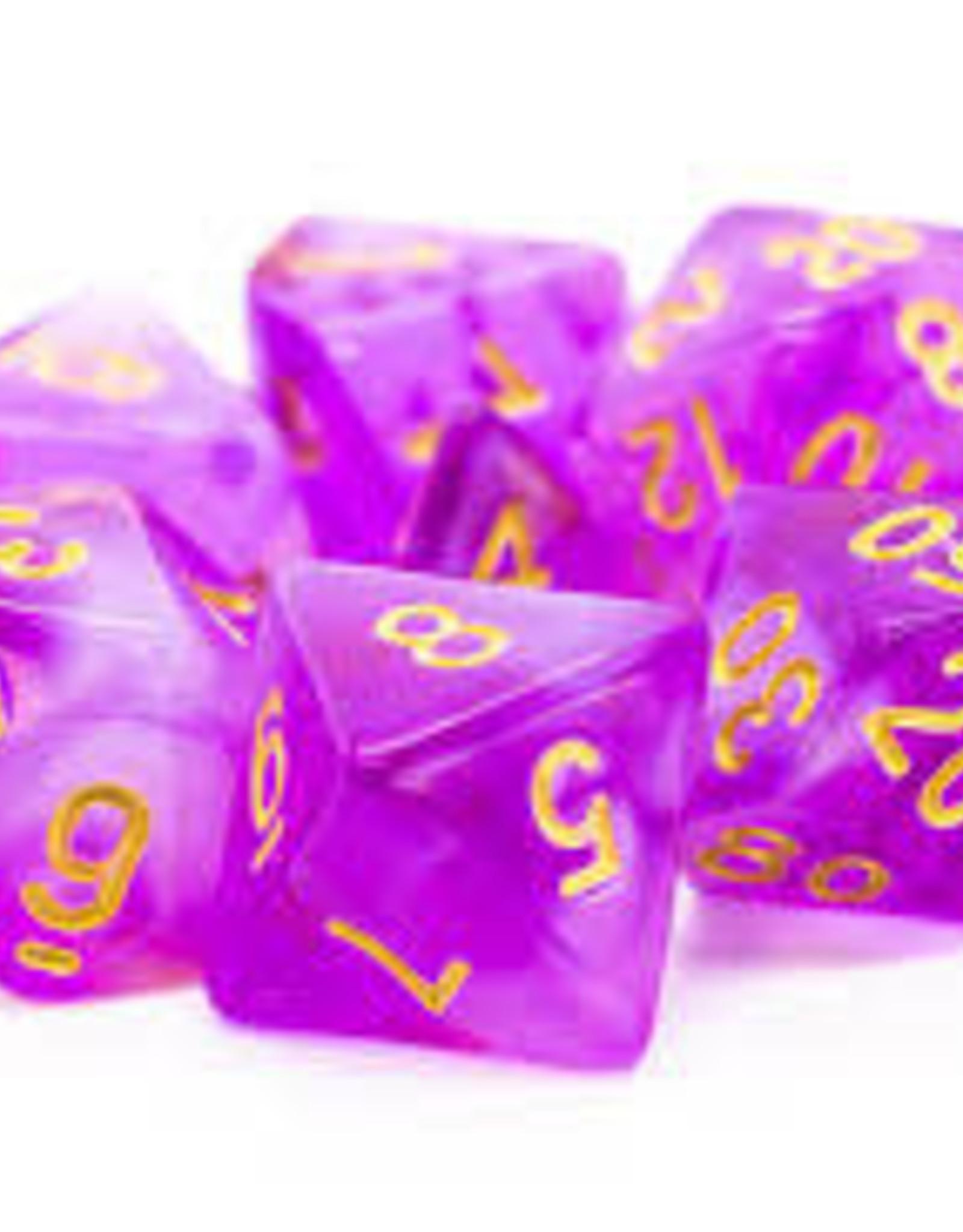 Old School Dice & Accesories Nebula Light Purple