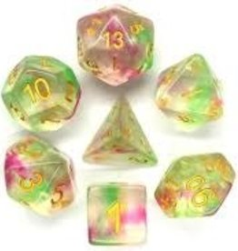 Old School Dice & Accesories Nebula Rose Red & Green