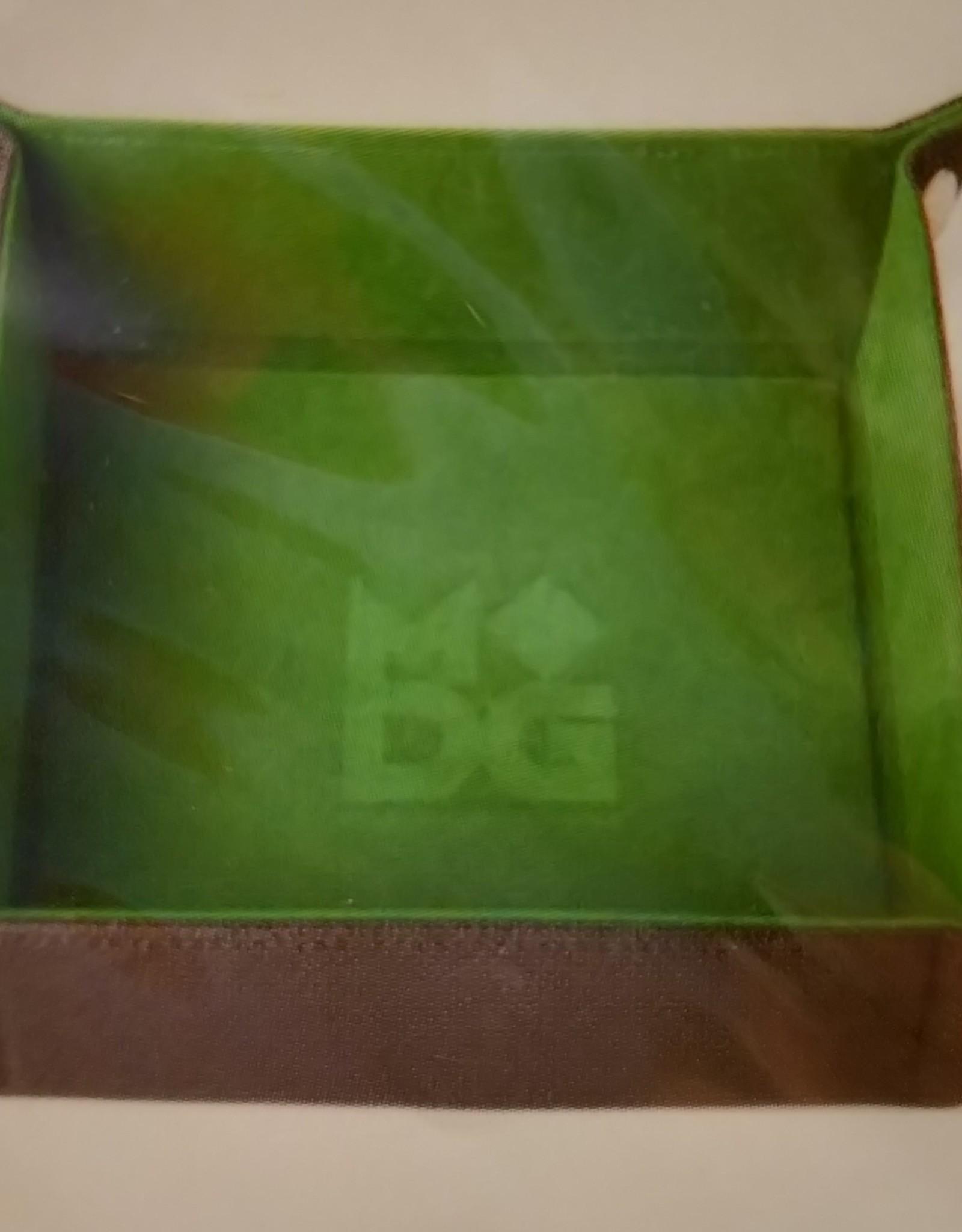 MDG Green Velvet Folding Tray