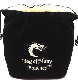 Old School Dice & Accesories Bag of Many Pouches: Black
