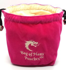 Old School Dice & Accesories Bag of Many Pouches: Pink